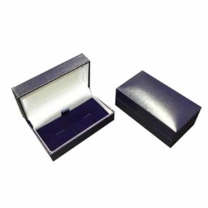 Blue leatherette cufflink box