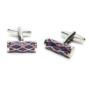 Purple & Lilac Harlequin Cufflinks