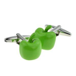 Green Apple Shaped Cufflinks