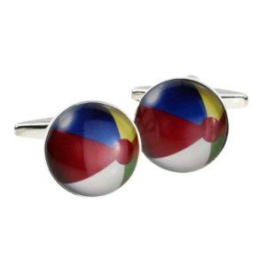 Beach ball shaped cufflinks