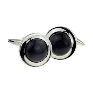 Black button classic cufflinks